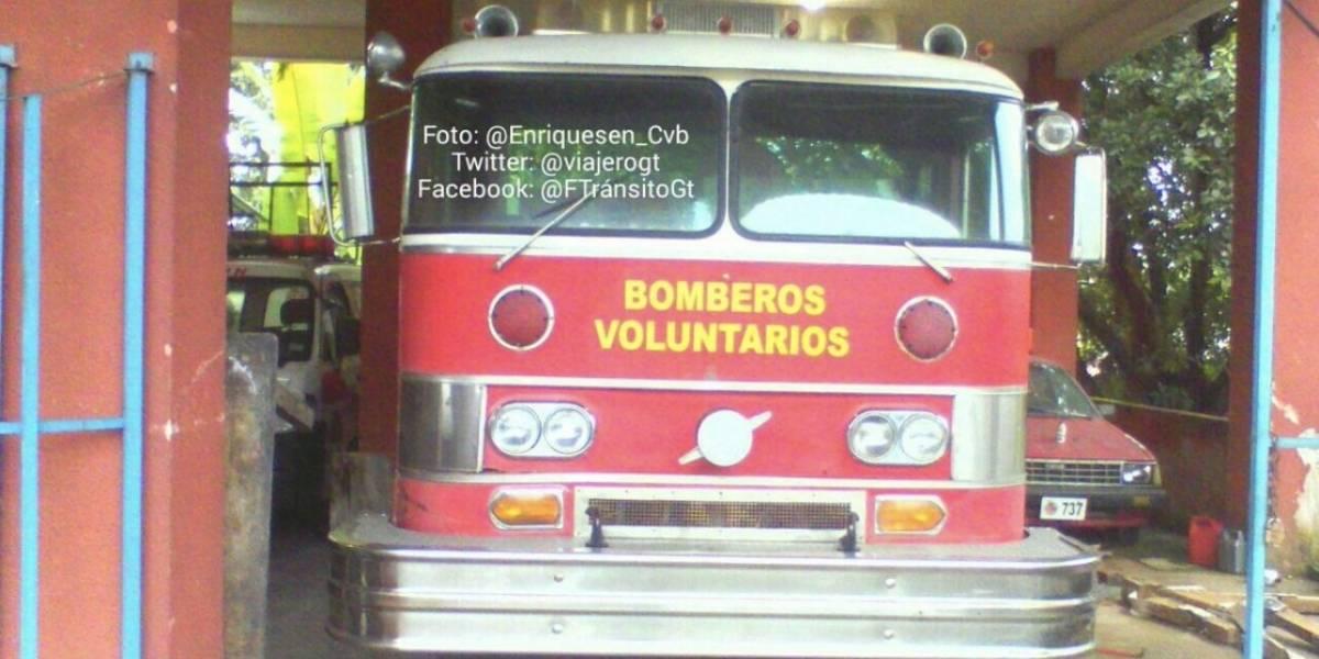Bomberos denuncian robo y hacen a los guatemaltecos una solicitud especial