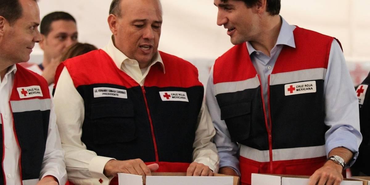 Justin Trudeau se suma como brigadista en la Cruz Roja México