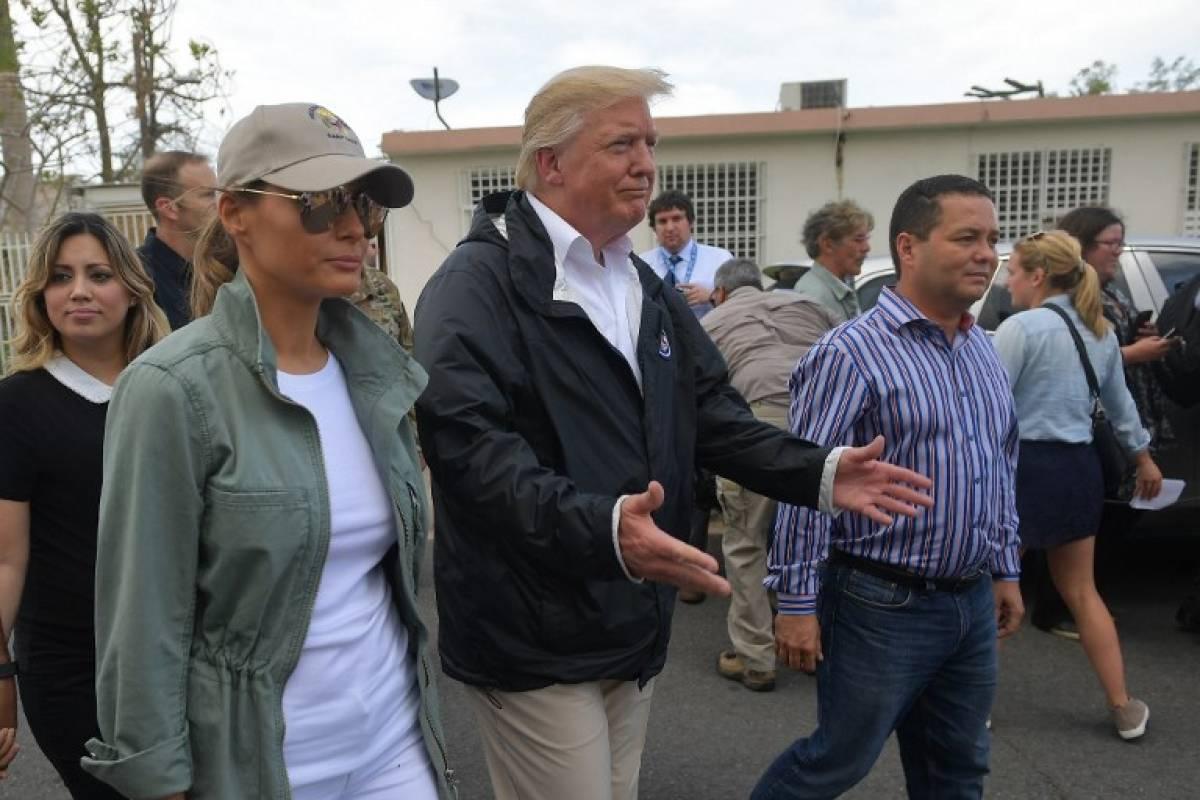 Donald Trump en Puerto Rico