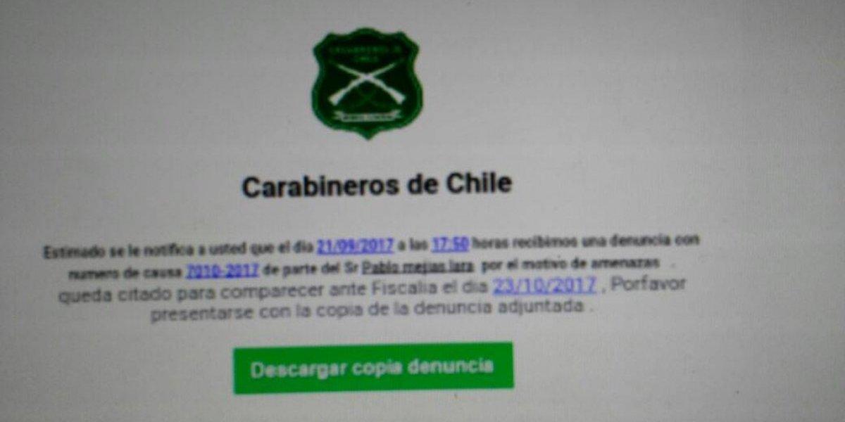 No abrir: Carabineros alerta por falso correo electrónico que contiene virus