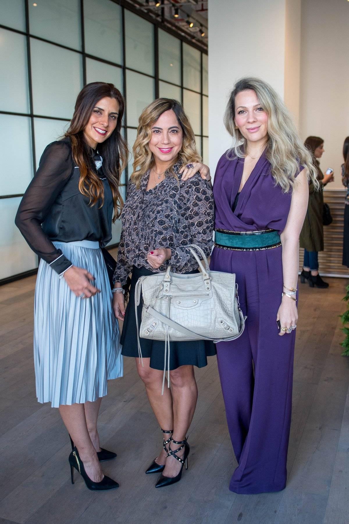 Paulina Feria, Liz Castro y Zarina Rivera JDS