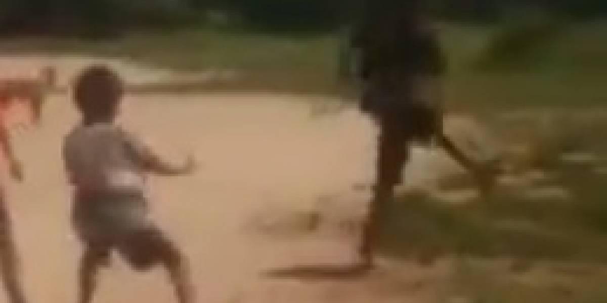 Video: Impresionante video de niños siendo asustados por un 'duende'