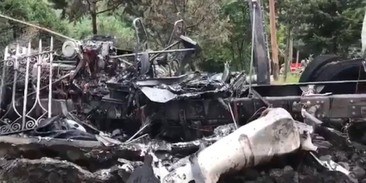 Tráiler se queda sin frenos y se incendia en la México-Cuernavaca