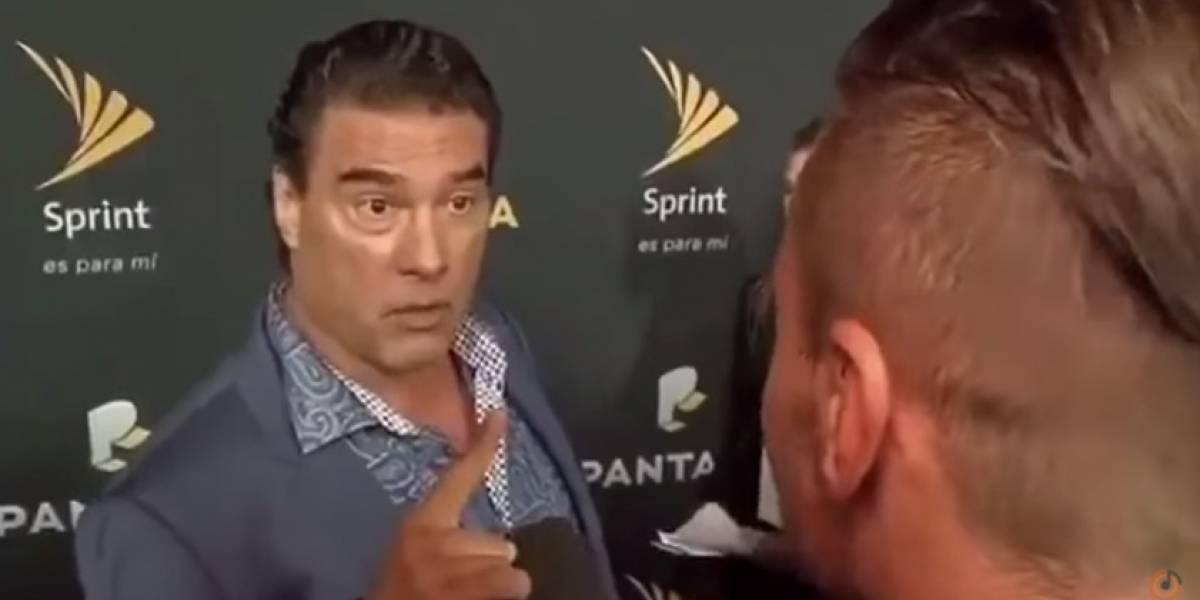 Lanzan piñata de Eduardo Yáñez dando tremendo 'cachetadón'