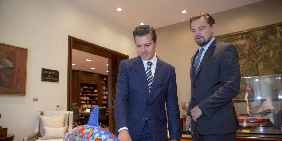 Agradece DiCaprio a Peña Nieto por su trabajo en favor de los océanos