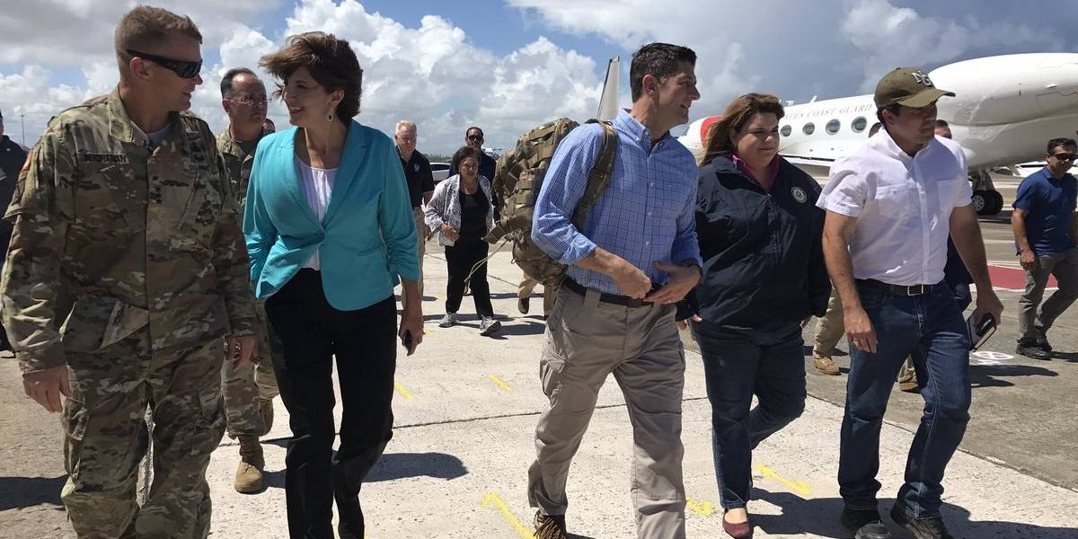 Paul Ryan llega a la isla
