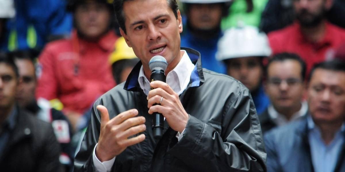 Peña Nieto dice que el gobierno tiene la capacidad institucional para reconstruir México