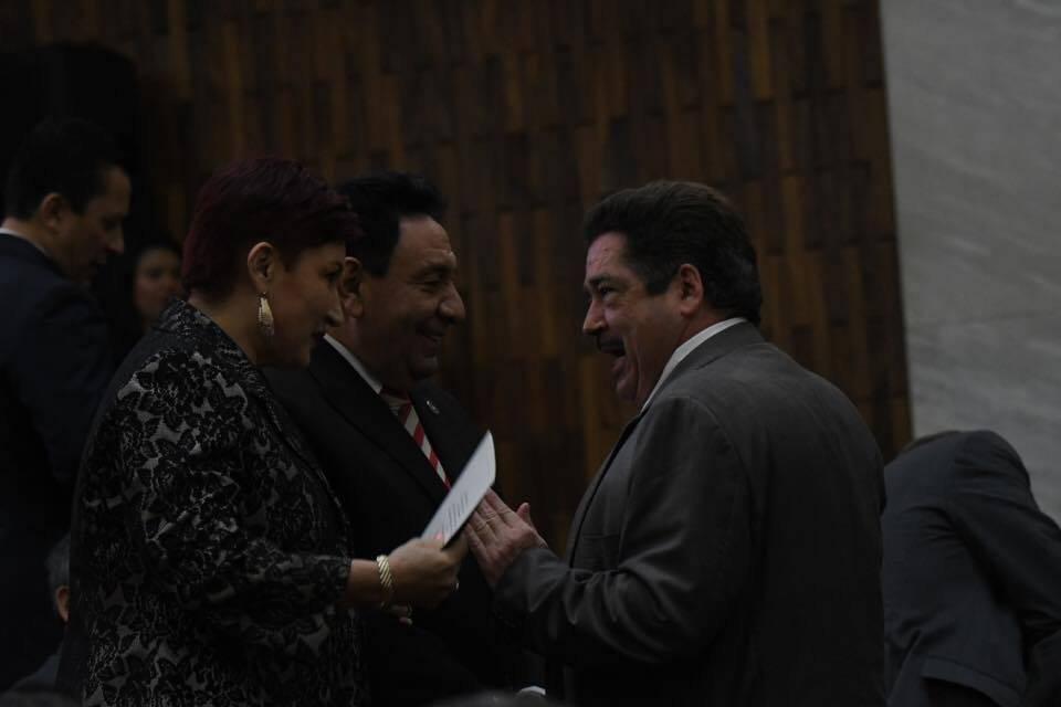 Toma de posesión de presidente del Organismo Judicial. Foto: Omar Solís