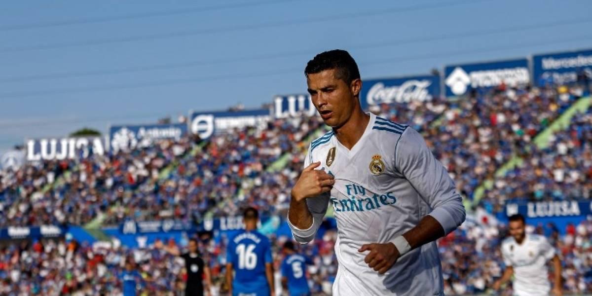 Cristiano marcó su primer gol en la Liga y salvó al Real Madrid en su visita a Getafe