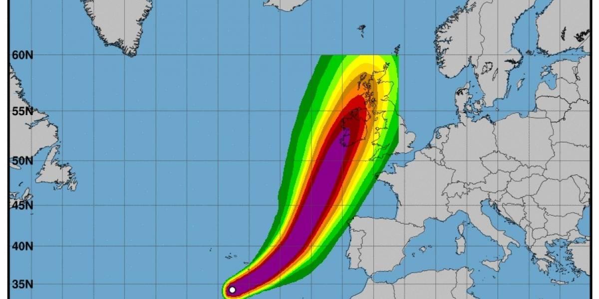 El huracán Ofelia incrementa su fuerza y alcanza la categoría 3 rumbo hacia Portugal