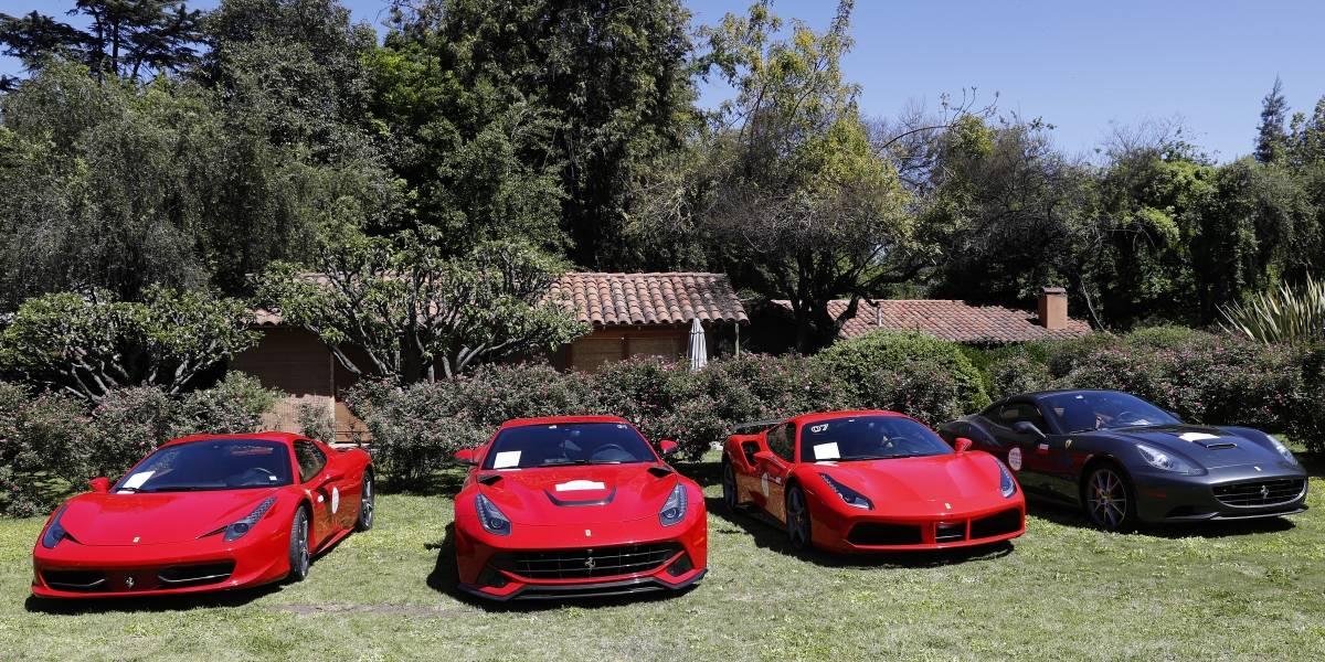 Cumpleaños de lujo: Exhibición de autos Ferrari se tomó la celebración de los 70 años de la marca italina