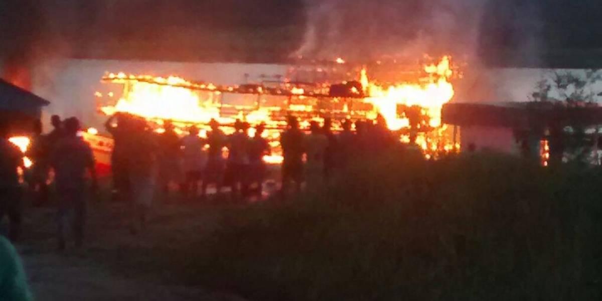 Explosão de embarcações deixa cinco pessoas gravemente feridas no Amazonas