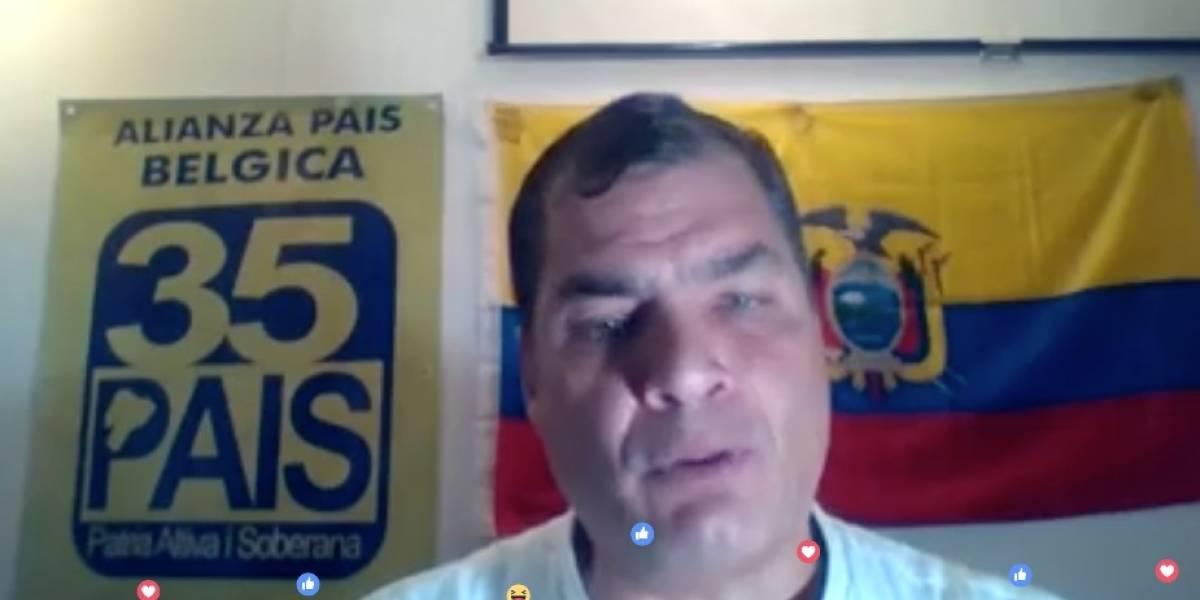 Rafael Correa habla sobre decisiones de Lenín Moreno