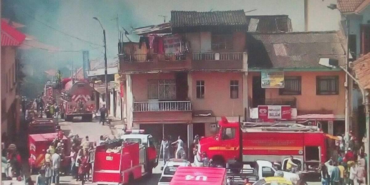 Se reportó incendio estructural en Cuenca