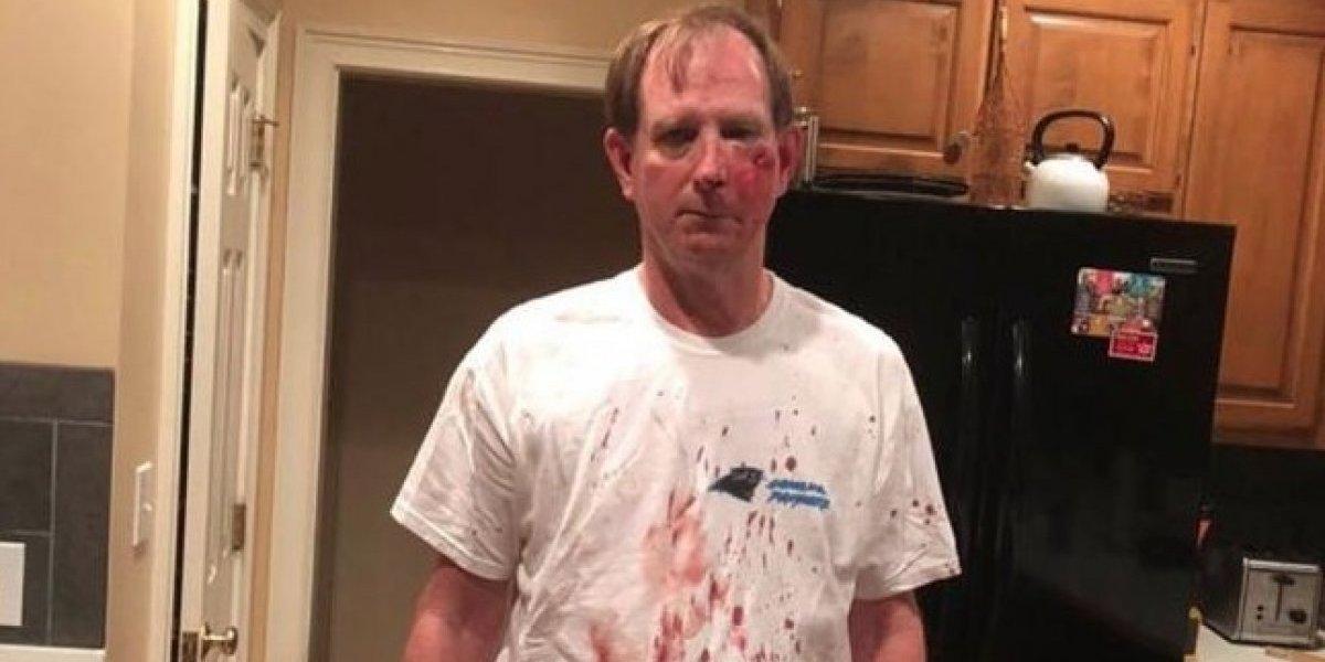 VIDEO: Aficionado de Panthers sufre brutal agresión por parte de otro