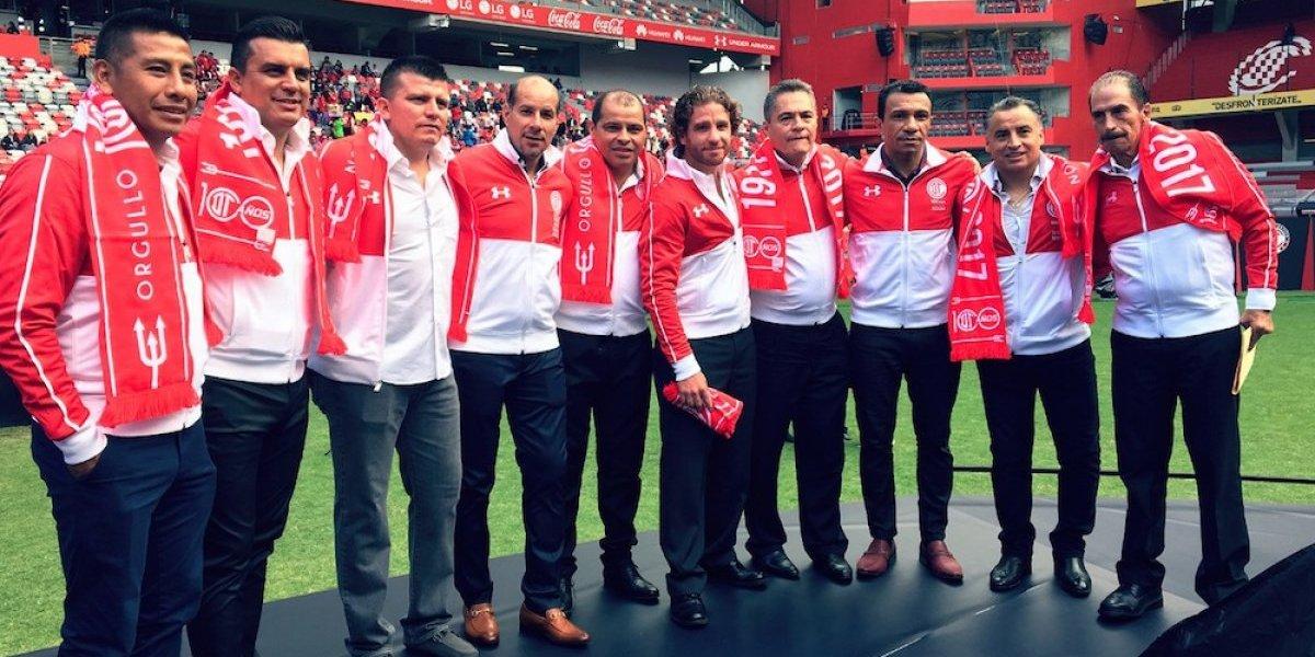 Toluca rinde homenaje a sus leyendas en el Evento Centenario