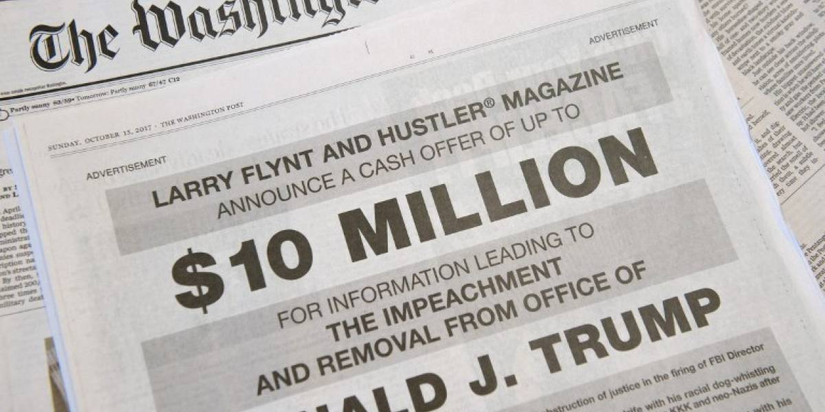 """El """"rey del porno"""" de EEUU ofrece una millonaria suma por información para destituír a Trump"""