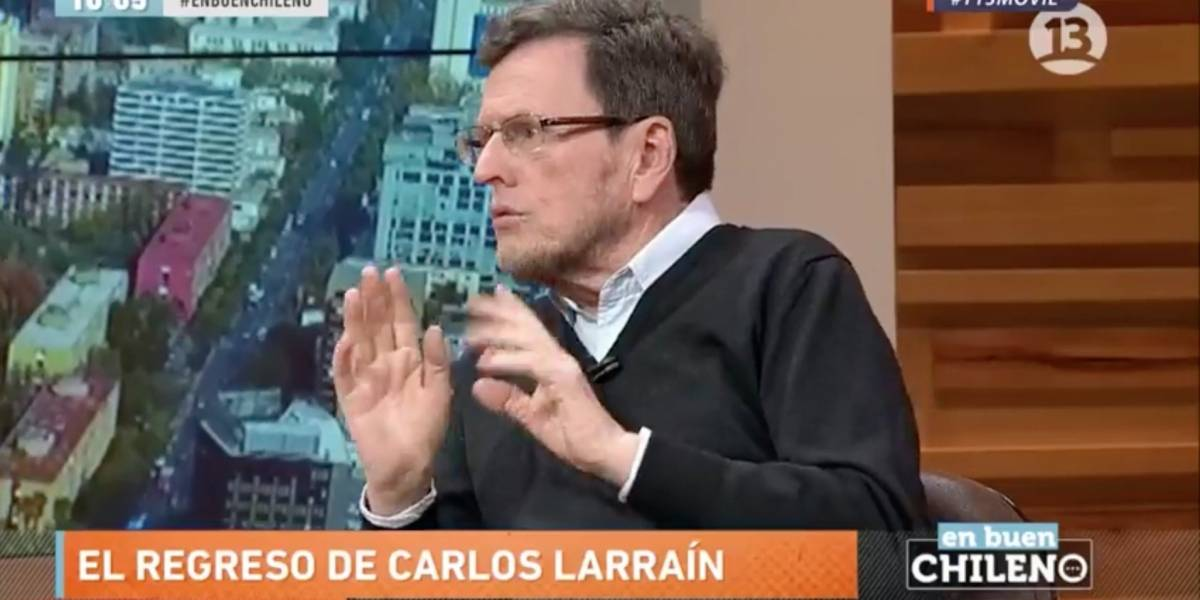 """Carlos Larraín: """"Se escribieron las tonteras más inverosímiles sobre mi hijo"""""""