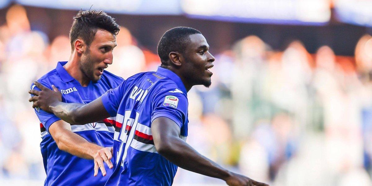 ¡En modo Falcao! Duván Zapata llegó enchufado de la Selección y anotó con Sampdoria