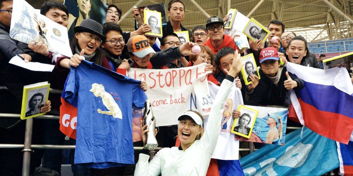 ¡La suerte le sonríe! Sharapova vuelve a ganar en el tenis