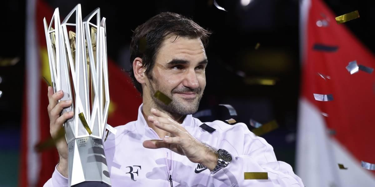 Federer conquista su 94to título con victoria sobre Nadal en Shangai