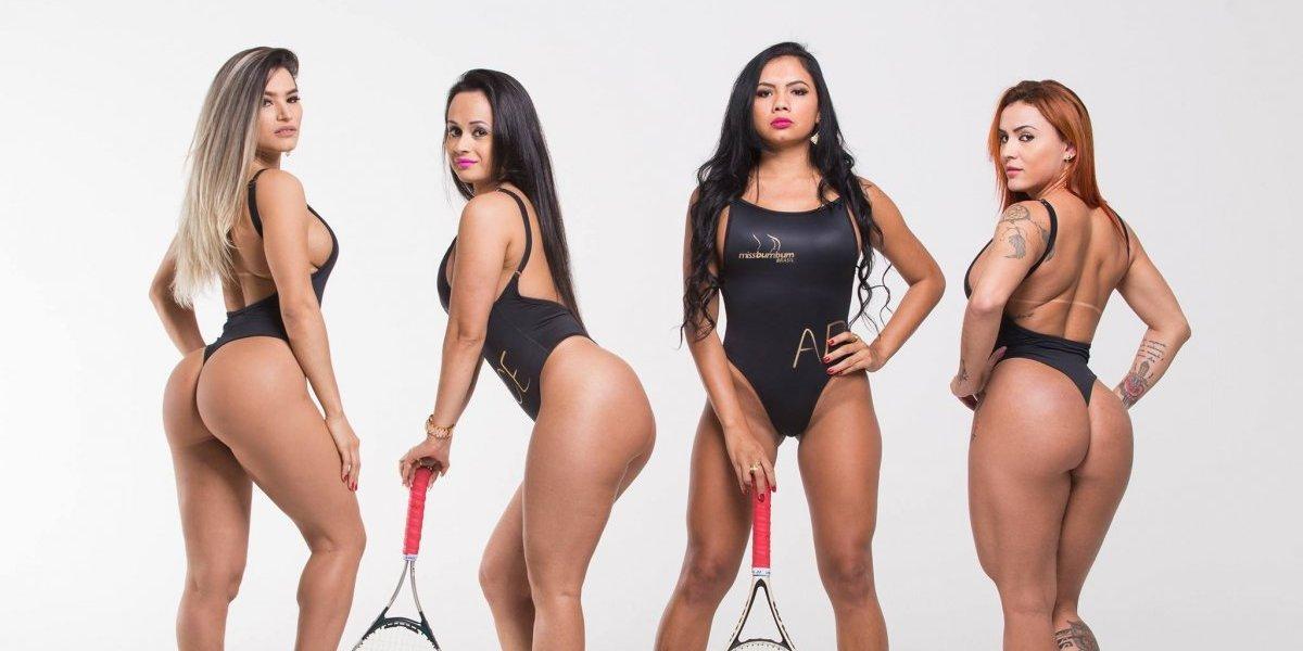 Candidatas a Miss Bumbum homenajean a Roger Federer