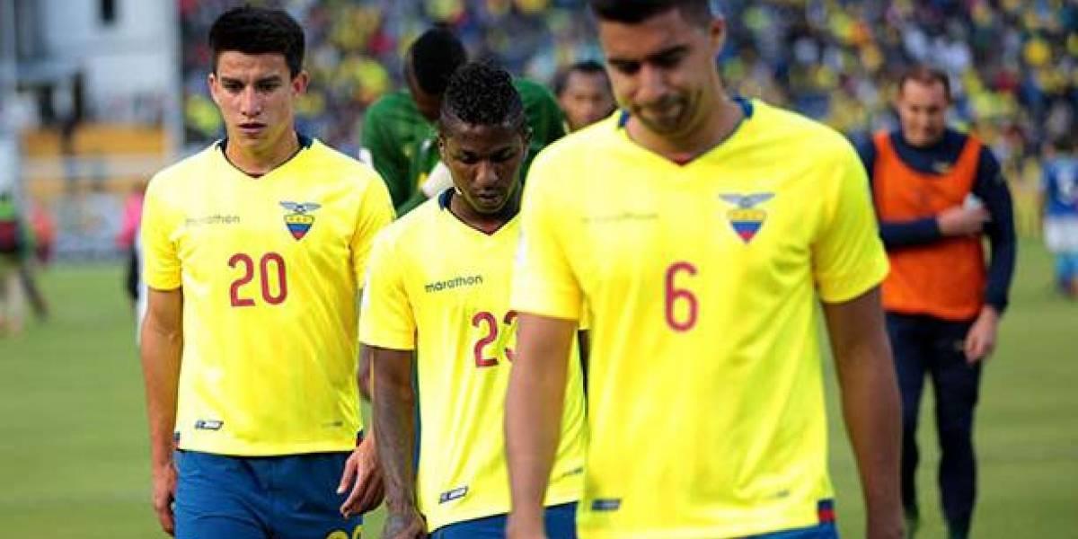 Ecuador, la peor selección de Sudamerica según ranking de FIFA