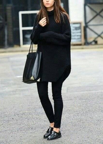 maxi suéter negro