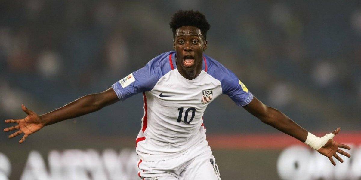 El Weah chico la rompe con Estados Unidos en el Mundial Sub 17