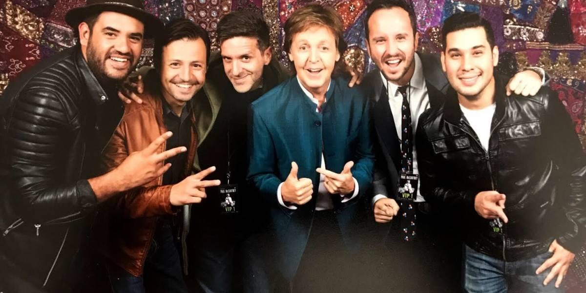 Los Claxons hacen campaña con Paul McCartney