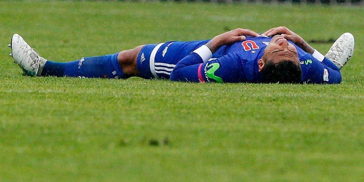 Sensible baja en la U: Jara quedó descartado para la semifinal de Copa Chile