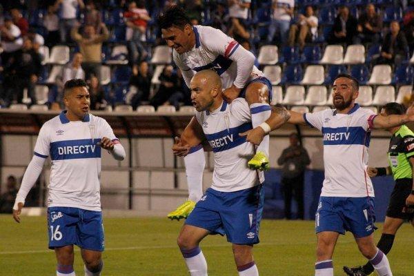 El desahogo Santiago Silva tras convertir ante Deportes Iquique / Foto: Photosport