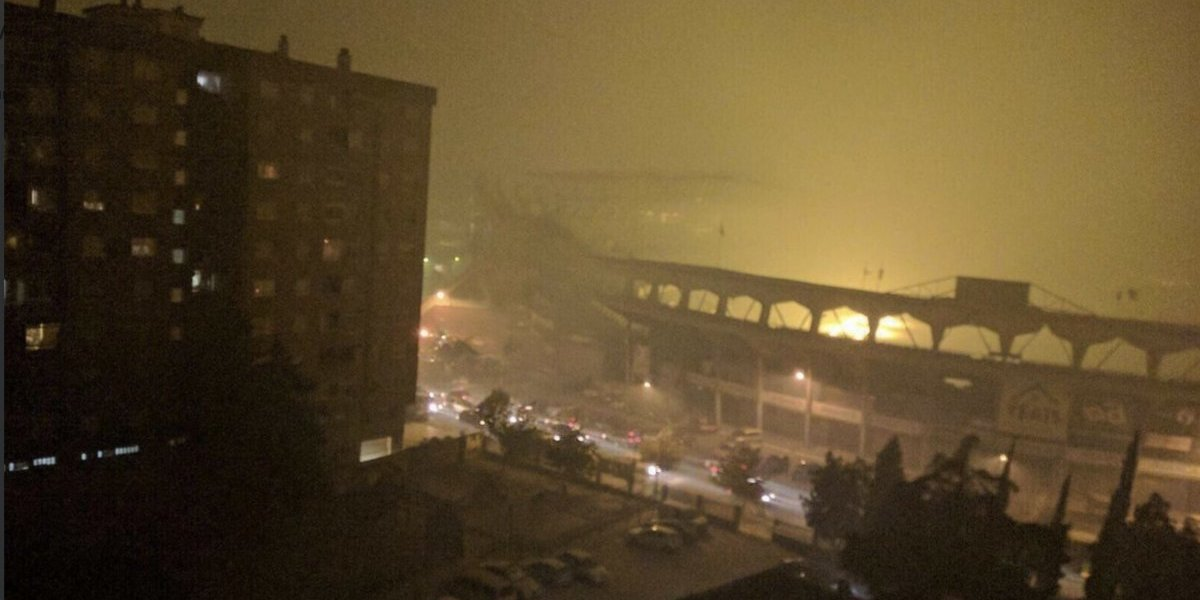 VIDEO: Fuerte incendio cubre de ceniza el estadio del Celta de Vigo
