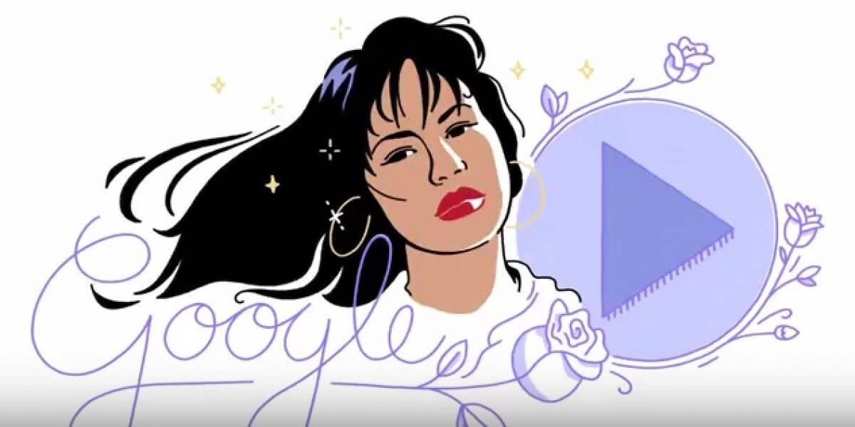 El doodle dedicado a su primer disco — Aniversario de Selena