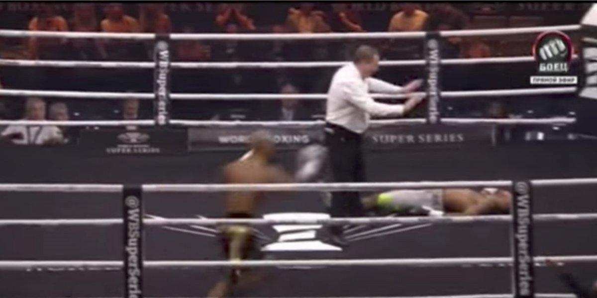 VIDEO: ¡Gandalla! boxeador noquea a su rival cuando se había detenido el combate