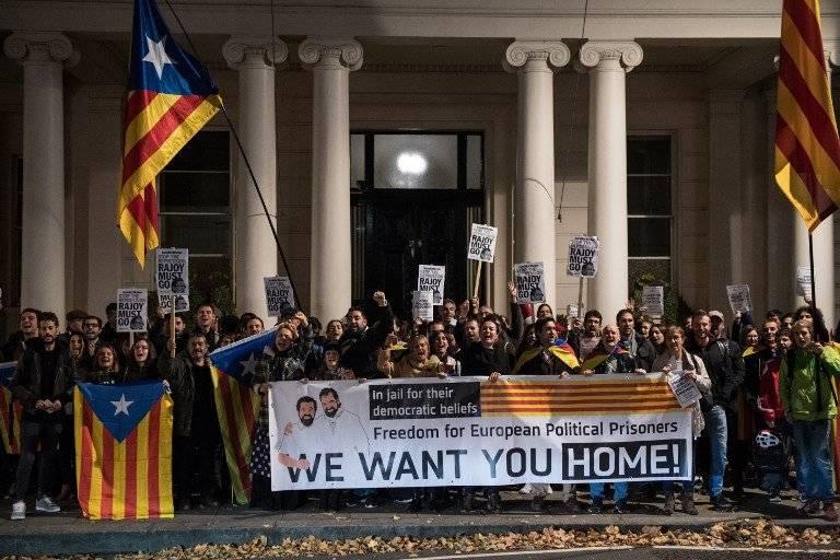 Las protestas siguen en Cataluña / imagen: AFP
