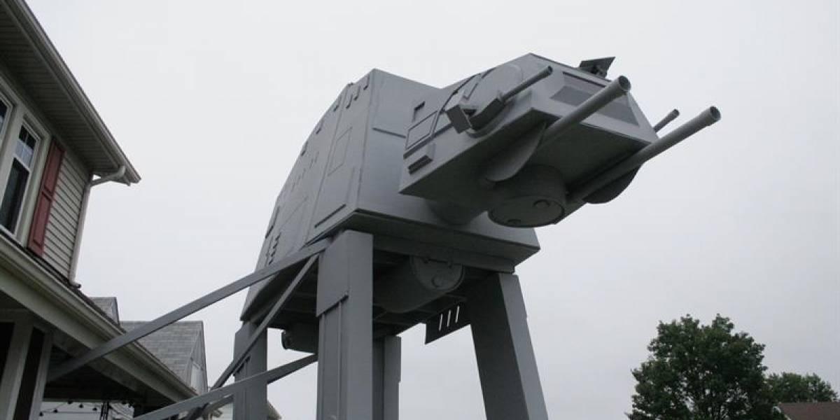 Construye replica de transporte de Star Wars para su jardín