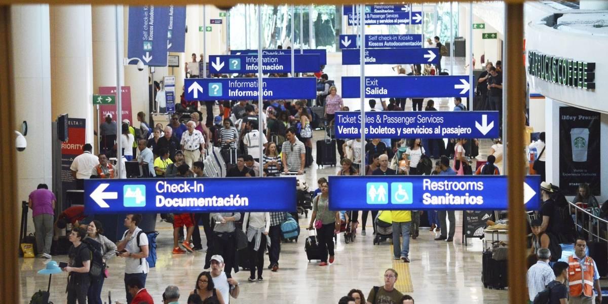 Detienen en aeropuerto de Cancún a pasajero argentino con más de 60 mil dólares en efectivo