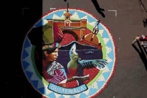 Alfombra guatemalteca en Uriangato