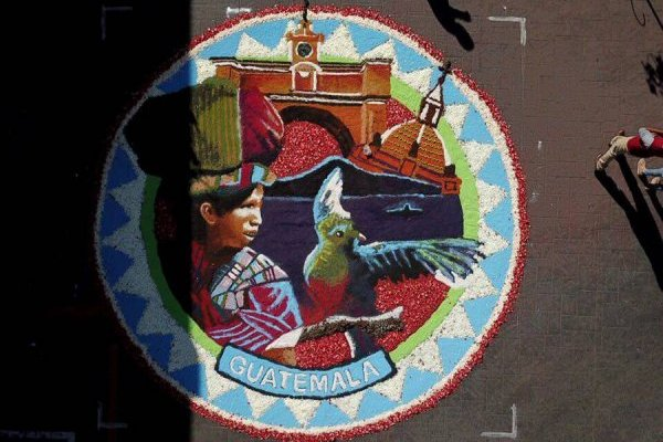 Alfombra de Guatemala en Uriangato, Guanajuato