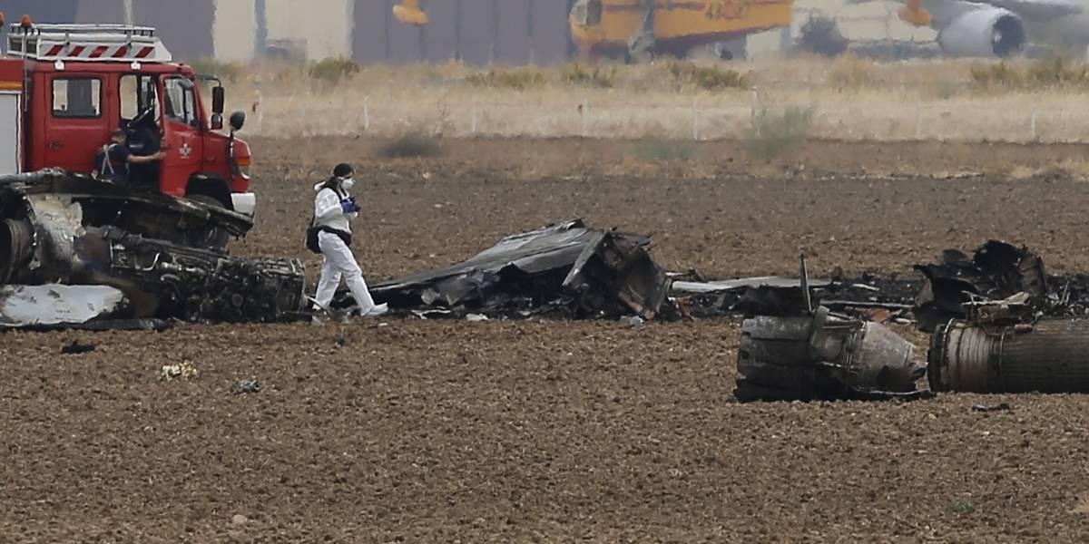 Se estrella un avión F-18 en las afueras de Madrid; murió el piloto