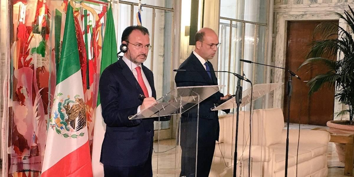 Confía Videgaray en autoridades italiana para extradición de Tomás Yarrington
