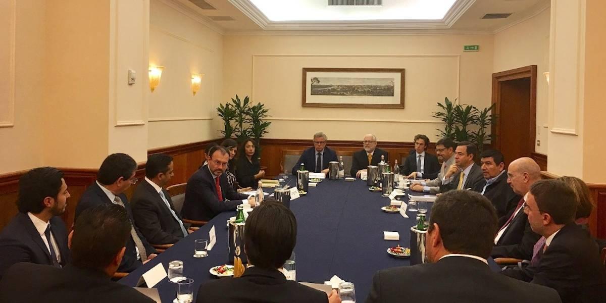 Videgaray se reúne con empresarios del sector automotriz en Italia