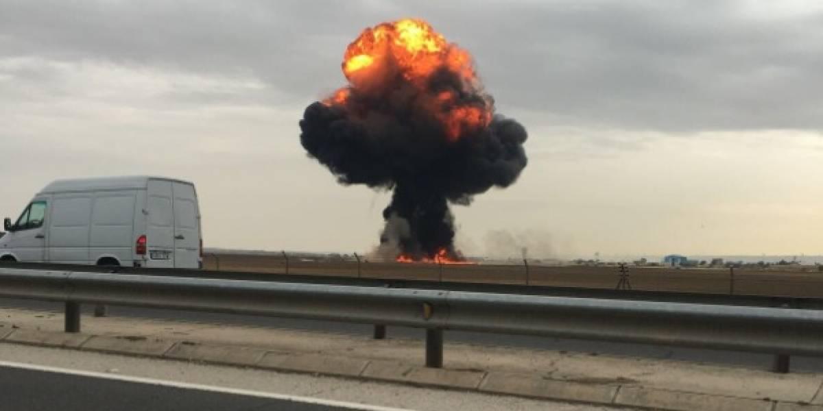El segundo accidente de avión militar en una semana: muere piloto tras estrellar un caza F18 en España
