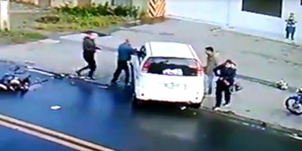 Video: Motociclista pierde la vida tras ser impactado por vehículo que se dio a la fuga