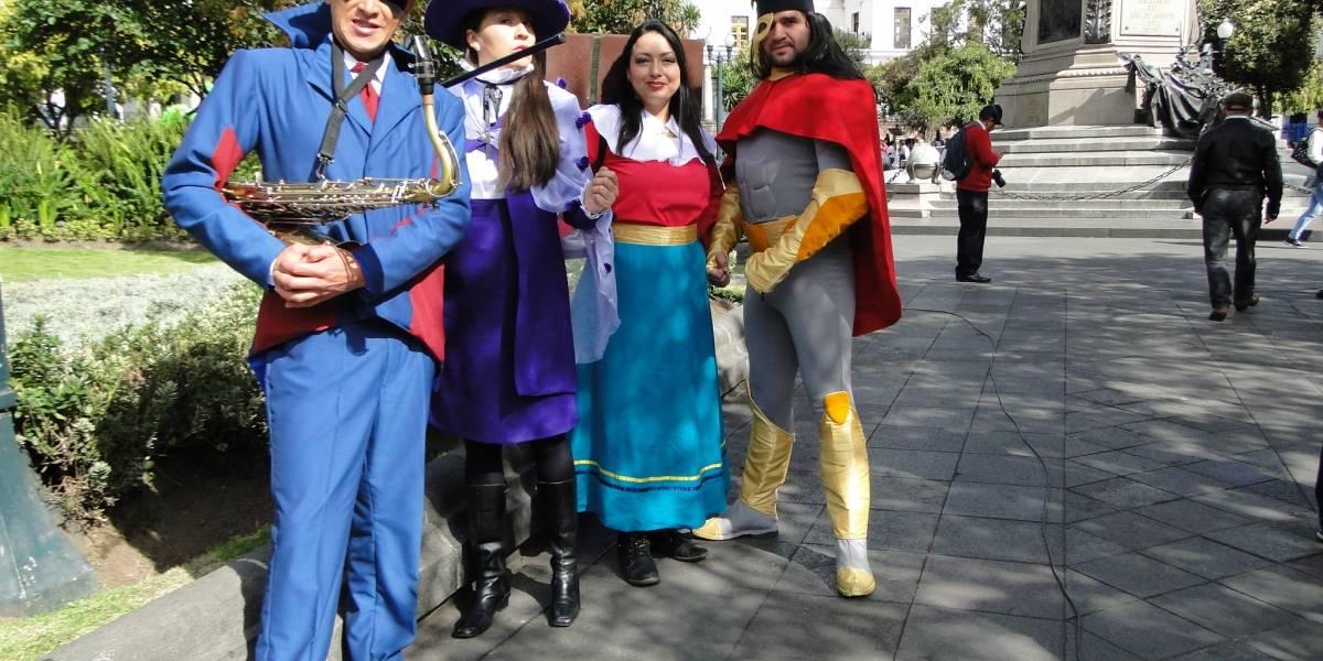 Superhéroes del pasado cuidan Patrimonio de Quito