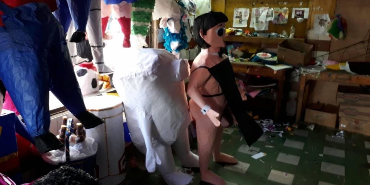 La piñata que causó revuelo por su explícito atributo