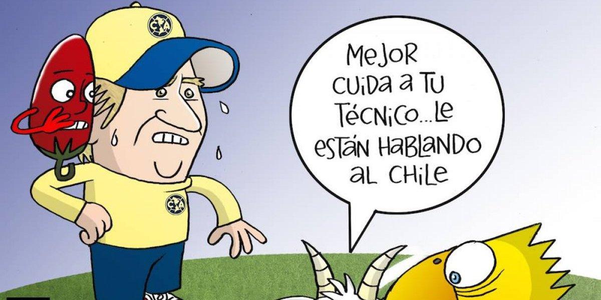 ¿Chile coquetea con Miguel Herrera? el cartón del día