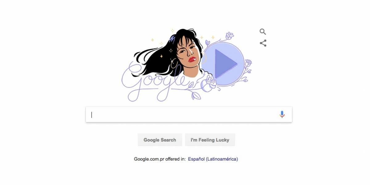 Google homenajea a Selena Quintanilla