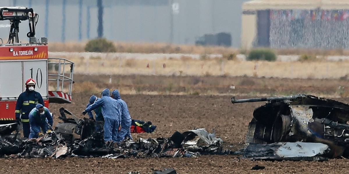 Muere piloto tras estrellarse caza cerca de Madrid
